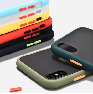 Matte Silicone Shockproof Bumper Phone Case For iPhone11 Pro Max 11 X XR XS Hard PC For iPhone 8 7 6 6S Plus Cover