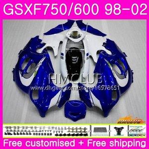 Kit For SUZUKI KATANA GSX750F GSXF750 1998 Blue White 1999 New 2000 2001 2002 Body 3HM.4 GSXF 750 600 GSX600F GSXF600 98 99 00 01 02 Fairing