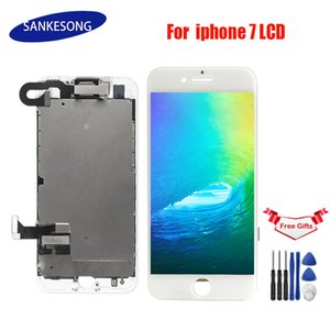 LCD complet pour iPhone 7 / 7G écran LCD, avec plaque arrière du haut-parleur écouteur de caméra avant Affichage remplacement de l'écran tactile