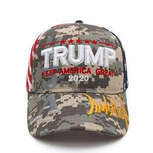 Donald Trump Baseball Cap Trump 2020 Embroidered KEEP AMERICA GREAT Camouflage Caps Camo Party Hats 20pcs OOA8053