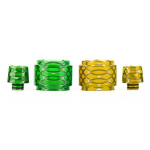 Resin Replacement Tube Cap Kit Big Capacity Honeycomb Cobra Drip Tip Snake Skin For Vaporizer Crown 4 IV Glass Tank Visual Ability
