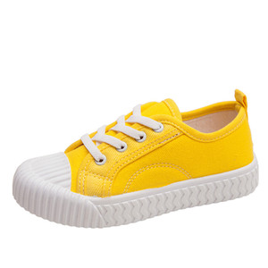 new Autumn new kids canvas shoes girls boys breathable casual candy color children's biscuit shoes size 21-33