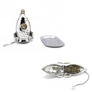 Ракетные Shaped Чай Infusers с поддоном из нержавеющей стали листовой чай стрейнер Herbal Infuser Фильтр