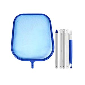 Swimming Pool Accessories 5-Section Rod Removable Leaf Net Plastic Swimming Pool Pond Hot Tub Fountain Large Fish Tank