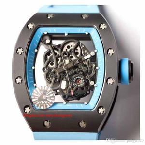 reloj RC48-3 diseñador, diseño esqueleto, serie RM055, caja de cerámica, movimiento automático, correa de caucho importado, hebilla plegable. colo múltiple