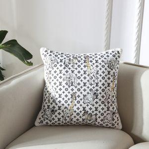 большая серия диванная подушка Европейский принт черно белая подушка с ядром завод роскошные подушки чехлы подушки