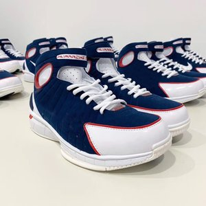 With box 2020New Zoom Huarache USA 2K4 American team all star Basketball Shoes Mens Trainers 4s Sport Sneakers