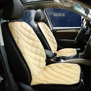 Fibra de Carbono Universal DC 12V Car Seat capa de almofada do assento inverno quentes tampa aquecida temperatura constante Inteligente