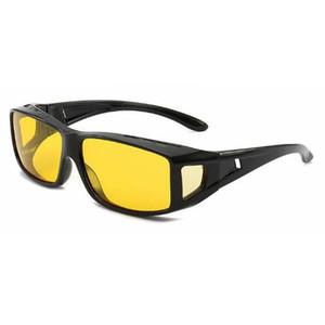 Haute qualité de conduite HD vision nocturne lentille jaune lunettes de soleil lunettes de sécurité du conducteur lunettes de protection lunettes hommes et femmes conduite lunettes