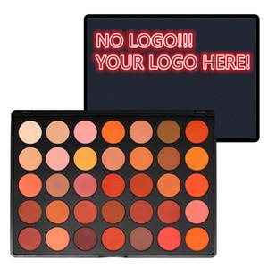 Hiçbir logo! 35 Renkler Göz Farı Paleti Makyaj Kozmetik Mat ve Işıltılı Göz Farı Paleti özelleştirilmiş logo kabul Makyaj
