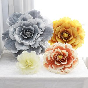 40cm / 50cm / 60cm / 70cm / 80cm grande de seda de la flor artificial para la cabeza de Rose Antecedentes de la boda contexto decoración flor de pared