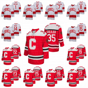 Cornell Big Red de universidades NCAA Hockey Jersey Ken Dryden Joakim Ryan Cam Donaldson Yanni Kaldis Riley Nash Max Andreev Michael Regush
