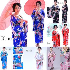 Women's Kimono Robe Long Printed Kimono Robe