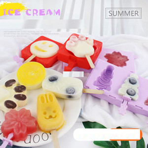 New Silicone Ice Cream Mold Popsicle Molds DIY Homemade Cartoon Ice Cream Popsicle Ice Pop Maker Mould