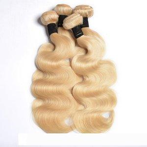 Modernshow 613 Rubio cuerpo de la onda pelucas de pelo de lotes de proveedor brasileño de la Virgen de la armadura del pelo 613 Color del cuerpo onda recta profundo Remy Ha Humano