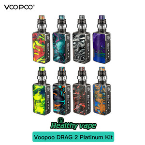 100 % 오리지널 VOOPOO Drag 2 Platinum Edition TC 키트 177W 드래그 2 Platinum Box Mod 5ml Uforce T2 탱크 U2 N3 코일