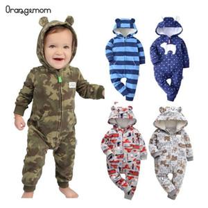 남자 아기 옷에 귀 멋진 위장 무늬 점프 슈트와 후드 유아 의류 Orangemom 가을 양털 아기 장난 꾸러기 코트