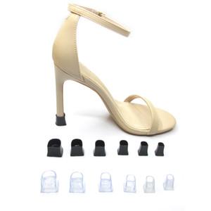 5 Tamaños Protectores de talones Latin Tango Salón de baile Cubiertas de talón Zapatos Tapones para bodas y fiestas