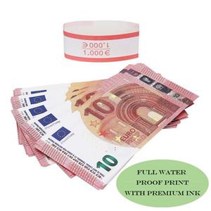 영화 돈 유로를 10분의 5 / 50분의 20 종이 복사 지폐 소품 돈 유로 100PCS / 팩을 척