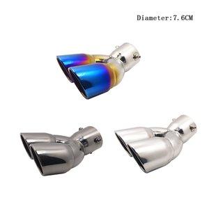 Exhaust Universal Car Auto Muffler Dica inoxidável Chrome guarnição Steel Pipe Modificado cauda do carro Rear garganta Liner Acessórios