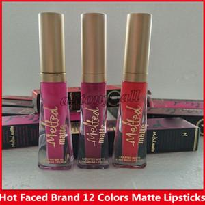 Famous Brand Geschmolzene Too Makeup Konfrontiert Geschmolzene Lip Gloss Sexy Make Up Geschmolzene Matte Liquified Lang Wear Matte Lippenstifte 12 Farben