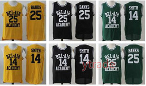 Men's Will Smith Jersey Basketball Il fresco principe di Bel Air Academy 25 Carlton Banks Green Black Green Stiched Nome e numero