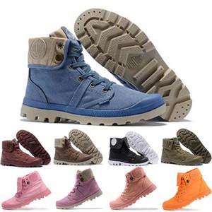 Palladium Boots Erkekler Kadınlar Paladyum Çizmeler Tasarımcı Spor Beyaz Pembe şarap kırmızı turuncu pembe siyah Camo Kış Ayak Bileği Roma Çizmeler freeshipping