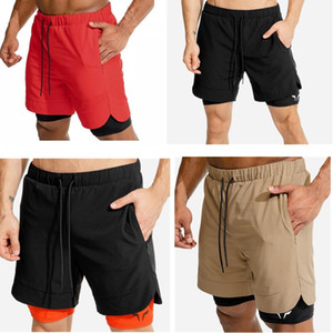 2020 новый мужской спортивный тренажерный зал сжатие телефон карманный износ под базовый слой короткие брюки спортивные твердые колготки шорты брюки