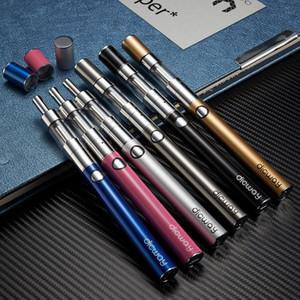 Dicway cigarette électronique Starter Kits batterie 900mAh tension réglable e kits de cigarettes 1,6 ml réservoir Dual Core Atomiseur Vape Pen Dust Cap