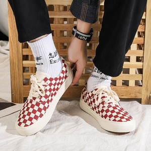 Teen Plaid Canvas Shoes 50% Fashion Autumn Casual Gingham Board Shoes Chic Summer Ulzzang Plimsolls Harajuku Girl Skate Shoes