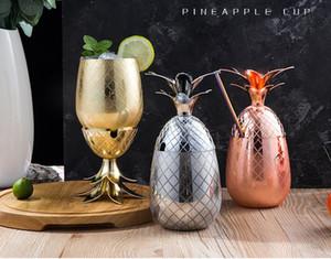 550ml ananas Artisanat Tumbler Verre à cocktail fini Cocktail Tasse d'ananas Travelling Coupes milieu du siècle Accessoires Modern Bar Designer