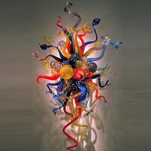 Luxo suspensão da flor Artes fixado na parede LED arandelas de parede luminária Europeia Corredor creativa Murano Vidro Light Recados