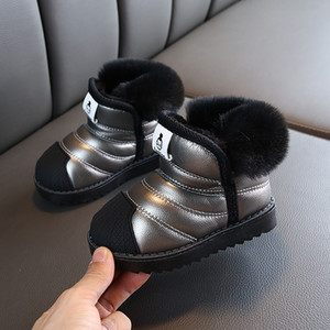 Warm Winter Girls Boys Shoes Designer Cheap shoes mesh baby Snow shoes autumn soft Bottom Kids Outdoor Party