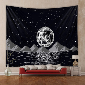150*130cm Tarot Tapestry Astrology Sun Moon Printting Tapestry Yoga Beach Mat Polyester Wall Hanging Home Room Decor HHA1182