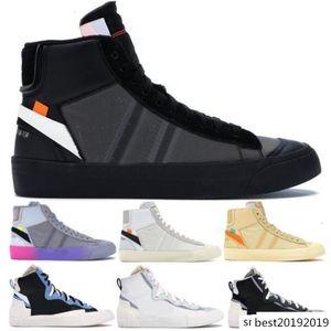 Mens Designer Blazer Mid scarpe casuali Nuovo 2020 fuori dal nero Bianco All Hallows Eve Donne Sneakers Sacai Leggenda Blu Moda Scarpe da corsa