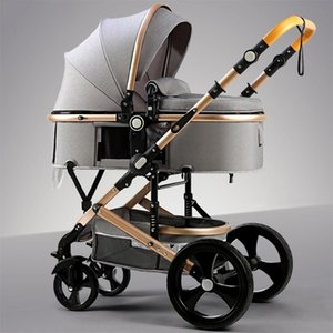 Buen cochecito de alta paisaje puede sentarse reclinado cochecito plegado ligera absorbente 2 en belecoo cochecito de bebé 1