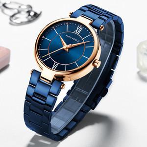 MINIFOCUS manera de las mujeres relojes de primeras marcas de lujo de diseño a prueba de agua reloj de señora para la mujer reloj de cuarzo reloj de pulsera femenina de las mujeres T200519