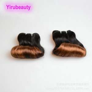 Indian Raw Human Hair 1B 30 Funmi Hair Extensions Two Tones Color Funmi 10A 12A Quality 8-26inch Double Wefts 3 PCS