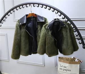 0-7T Crianças casaco de pele Jacket Imitação Fox Artificial Fur Grama alta qualidade Plush Couro falsificado Inverno baby girl roupas B287