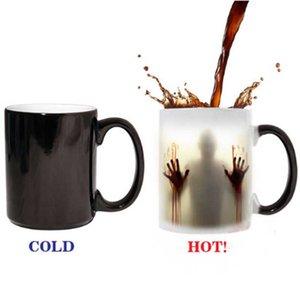 Yürüyen ölü Kupa renk değiştirme Isıya Duyarlı Seramik 11 oz kahve kupa sürpriz hediye