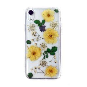 هيون زهرة ل iPhonex ماكس Epoxy الهاتف قذيفة الزهور المجففة زهرة حقيقية Epoxy الهاتف المحمول واقية قذيفة الحالات الهاتف الخليوي