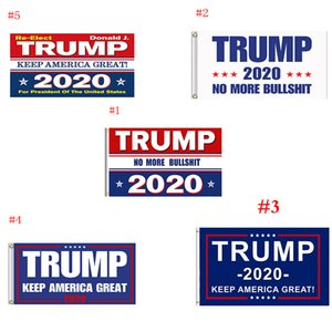 Trump Flag 2020 Keep America Great Again Banner Decor President USA Donald Trump Election No More Bullshirt Flag 3*5 feet 90*150cm