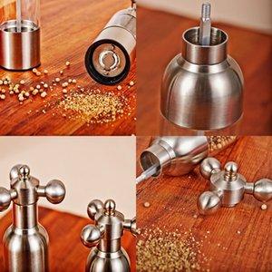 Hand Driven Pepper Mill Faucet Valve Shape Stainless Steel Case Manual Salt Grinder,Food Safe Ceramic Burr Home Decoration