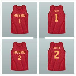 California High School Zack Morris 1 AC Slater 2 Ehemann Familie Rollenspiele Retro Basketball-Jersey-Männer genähtes Gewohnheit irgendeine Nummer Name Trikots