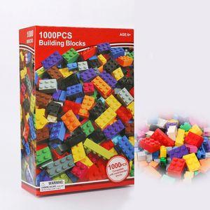 Çocuklar için 1000pcs Yapı Taşları Blok Bulmaca Yapı Taşları DIY Çocuk İstihbarat Eğitimi Garden Villa Montaj Lepin Blokları Büyük hediye