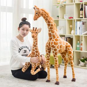 Novo criativo Girafa Plush Toys animal bonito Stuffed Dolls macio Simulação Giraffe boneca presente de aniversário para crianças Brinquedos dos desenhos animados cervos Plush Doll