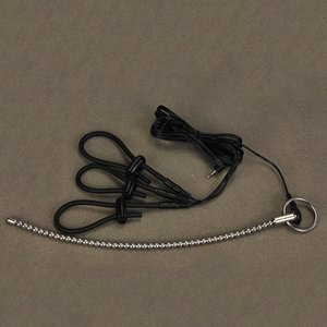 Electro choque de accesorios, catéter Sonidos granos hechos a mano del pene Plug dilatador castidad Dispositivo Médico del martillo del anillo del sexo juguetes para los hombres