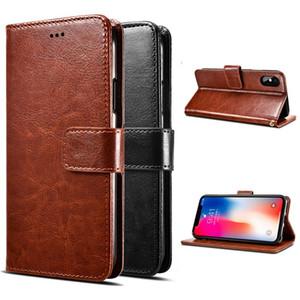 Für LG Stylo 6 K51 Aristo 5 Tribute Monarch Fortone 3 Samsung A11 A21 Moto E7 Stylus G Flip schnellen Magneten Mappen-Kasten-Karten-Slot-Leder-Abdeckung