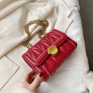 Pelle Moda Donna Crossbody borsa dell'unità di elaborazione del sacchetto di Samll catena obliqua Borsa a tracolla progettista della signora della borsa della borsa
