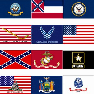 3x5ft USA-Flagge Mississippi State Flag Confederate Flags 90 * 150cm US-Armee Banner Airforce Marine Corp Marine Banner freies Verschiffen HHA1422